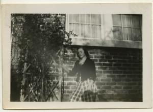 Black and white polaroid of Anne Wilson in November 1948
