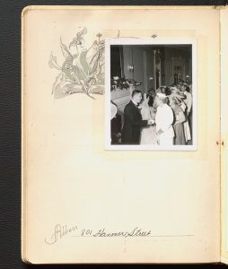 One black and white polaroids of Anne Wilson Rowe's wedding reception