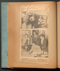 """Newspaper clipping of Anne Martin Wilson attending """"Youth Day"""" at the local police station"""