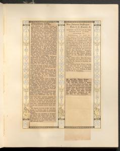 "Two separate newspaper cut-outs titled ""Hunter-Stoffregen Wedding in Fredericksburg Last Night"" and ""Miss Jeanette Stoffregen Weds G.L. Hunter, Jr."""