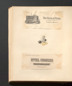 Two post cards from North Carolina and Virginia hotels stayed at by Katherine Stoffregen and Fielding L. Lewis on their wedding journey.